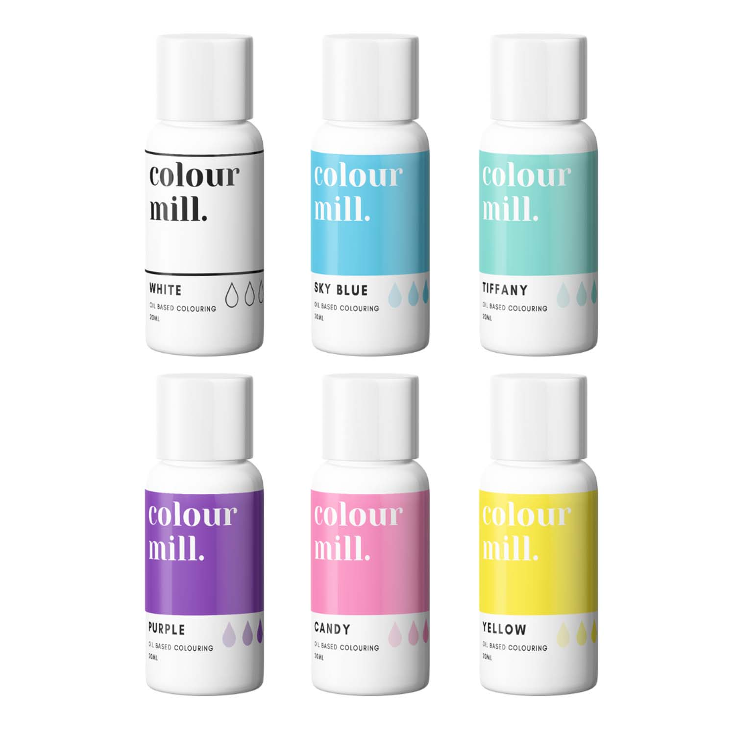 Rainbow Pack Colour Mill Oil Based Color