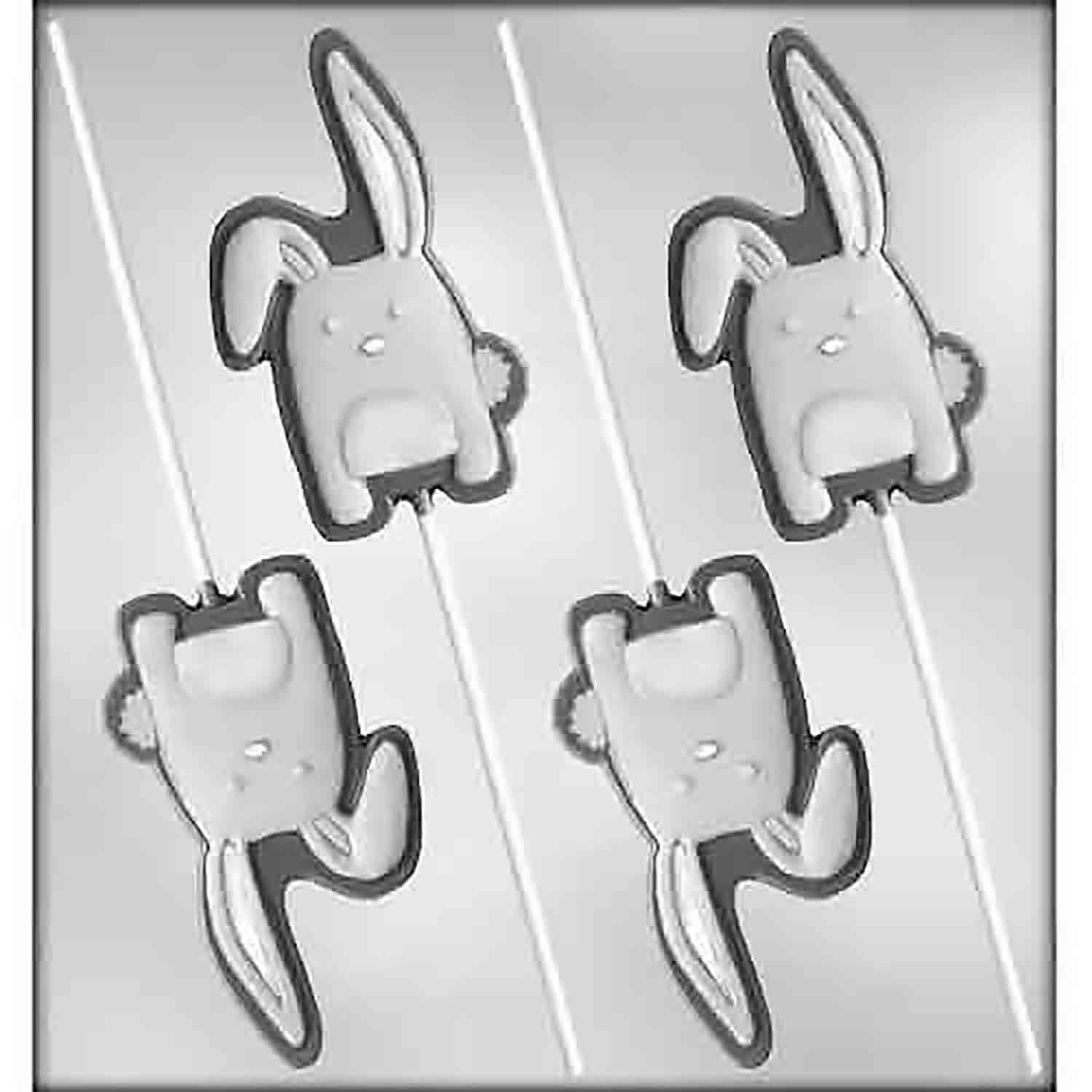 Floppy Ear Bunny Sucker Chocolate Candy Mold