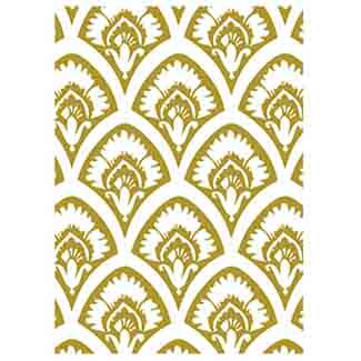 Gold Damask Treat Bags - Small