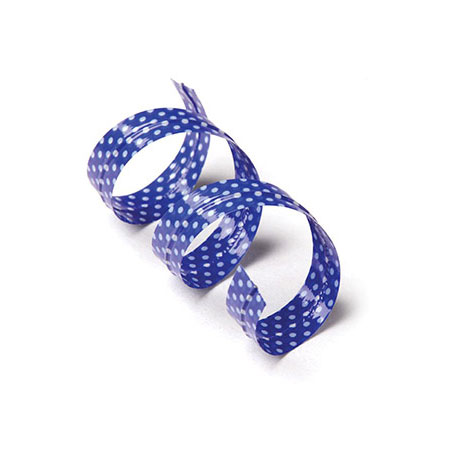 Blue Polka Dot Twist Ties