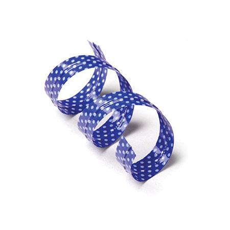 Blue Polka Dot Twist Ties