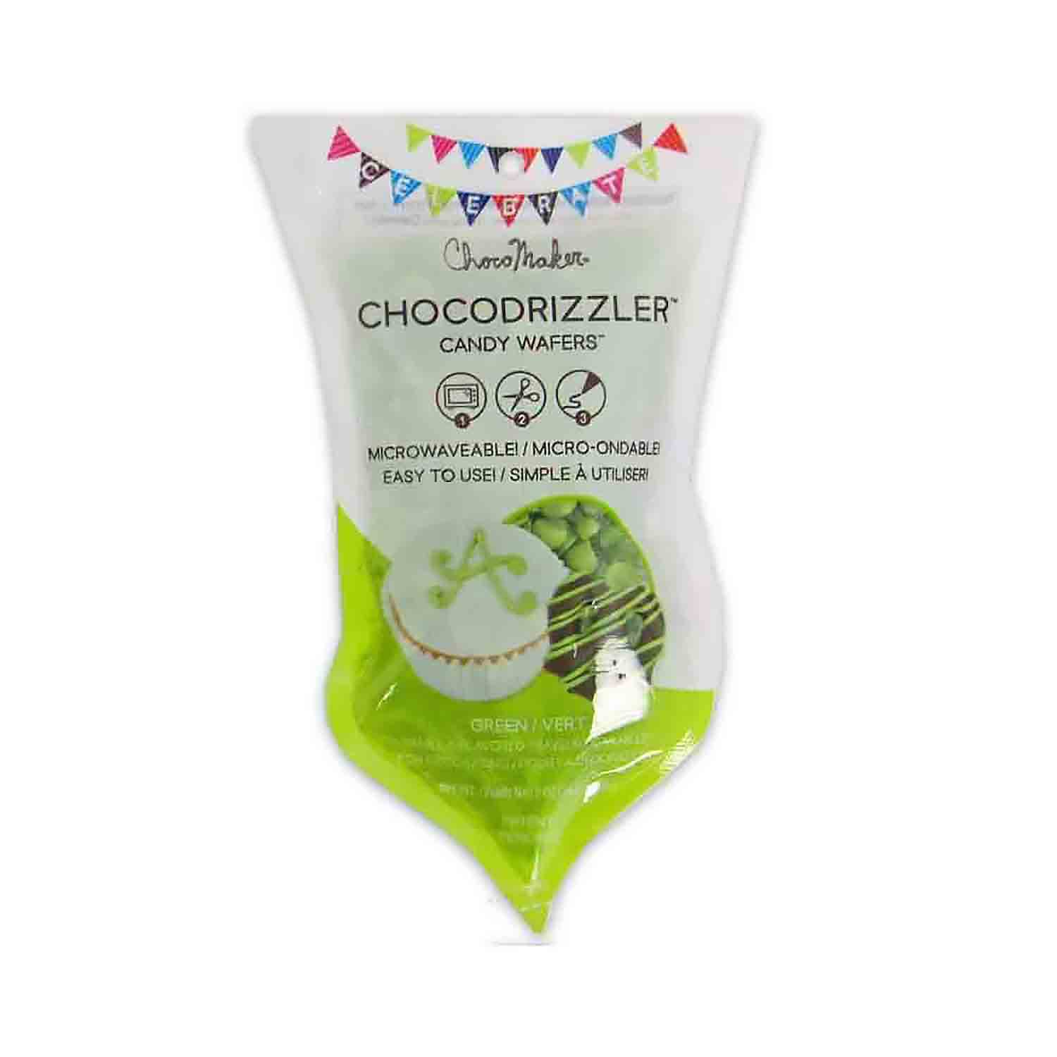 Green CHOCODRIZZLER Candy Wafer Pouch