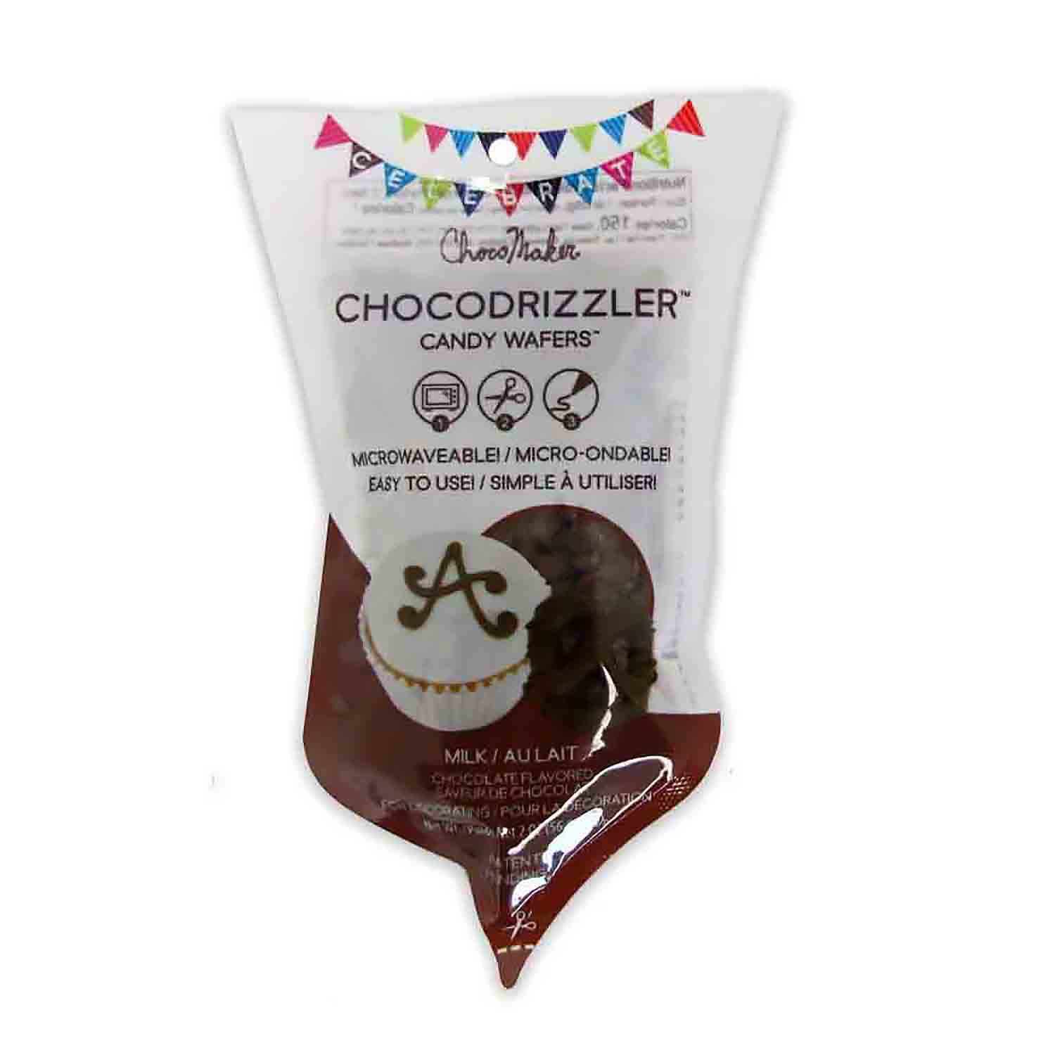 Milk Chocolate CHOCODRIZZLER Candy Wafer Pouch