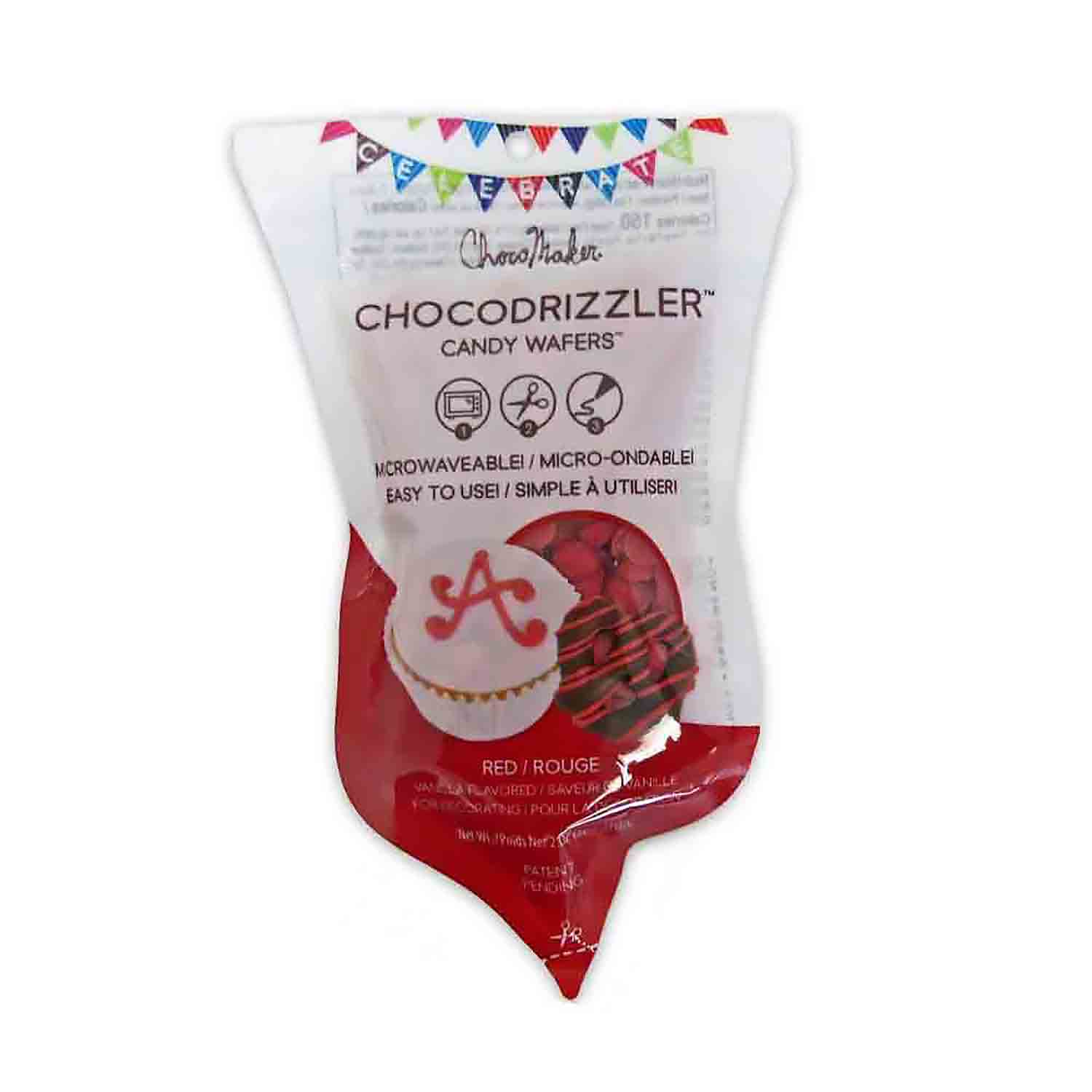 Red CHOCODRIZZLER Candy Wafer Pouch