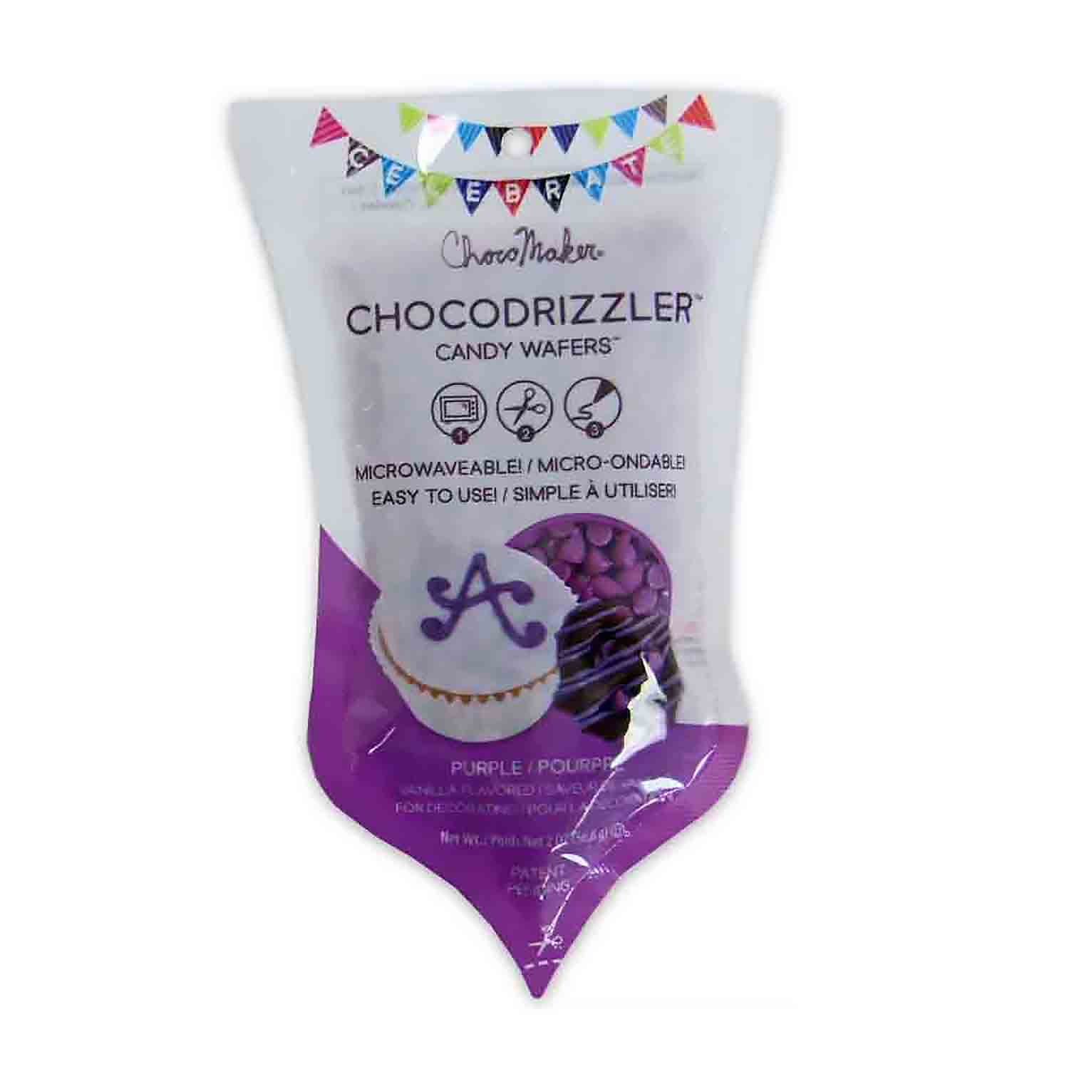 Purple CHOCODRIZZLER Candy Wafer Pouch