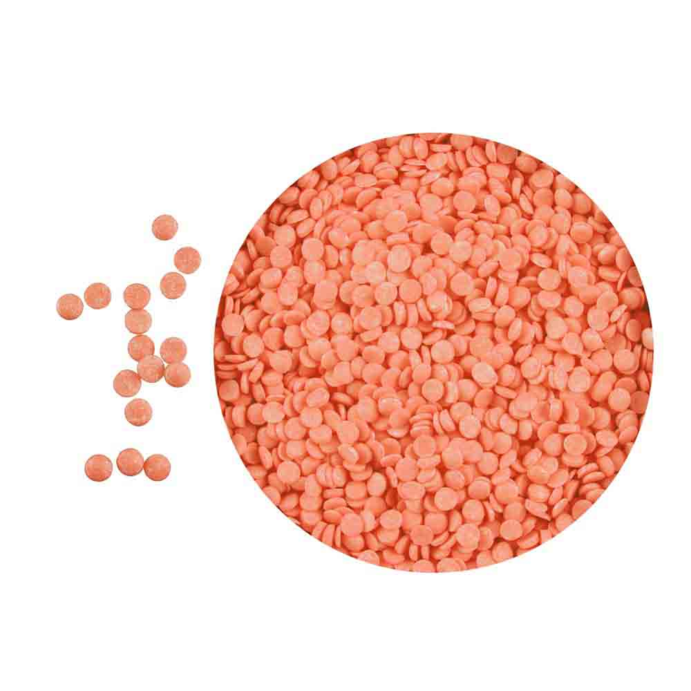 Bright Orange Shimmer Confetti Sprinkles