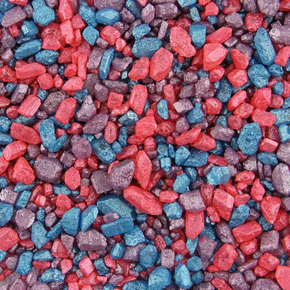 Mixed Colors Shimmer Rock Candy