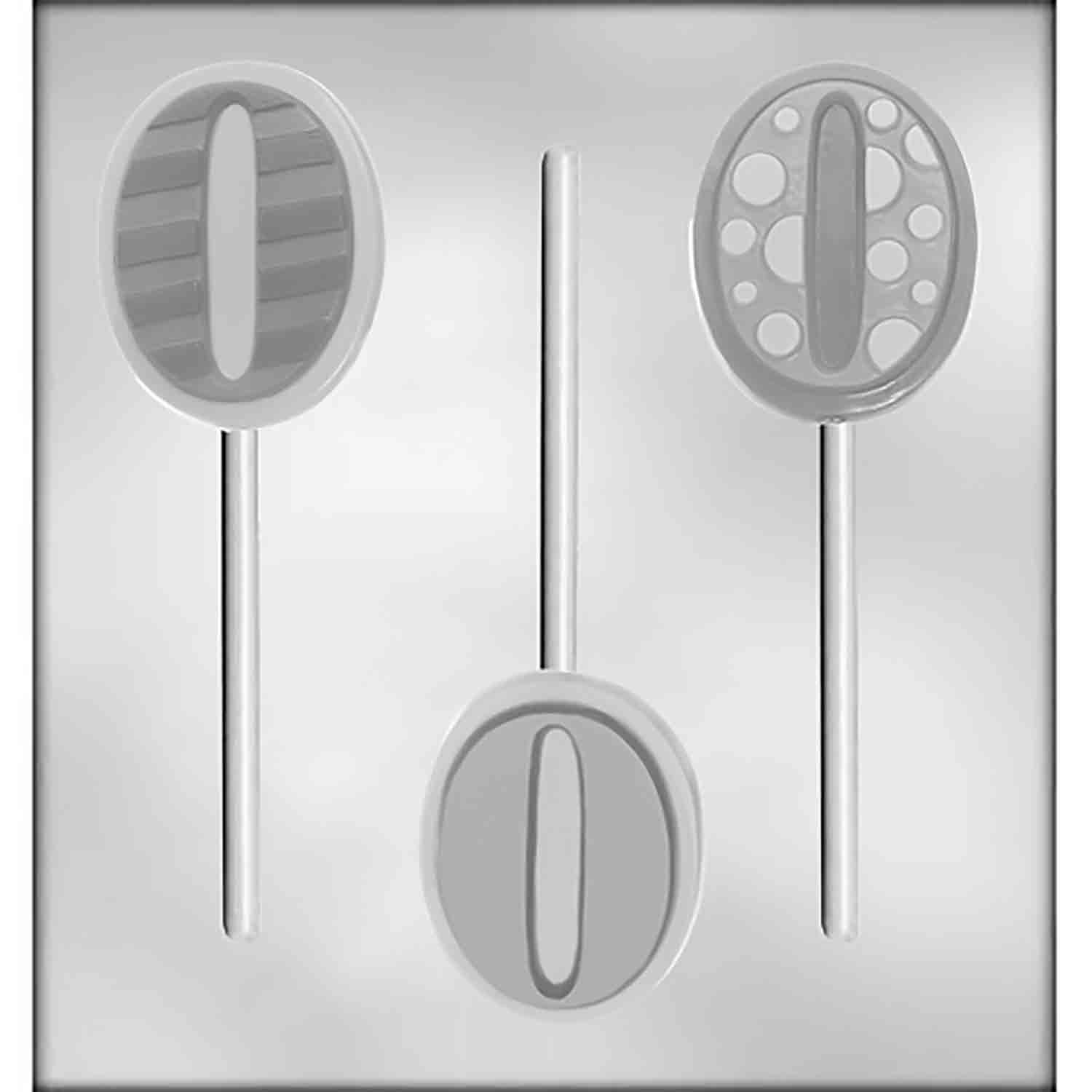 Number 0 Sucker Chocolate Candy Mold