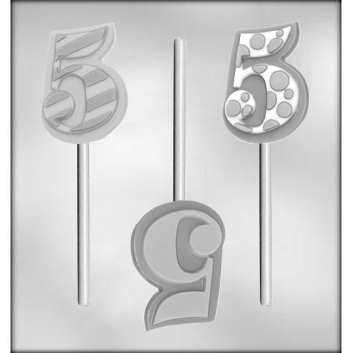 "Number ""5"" Sucker Chocolate Candy Mold"