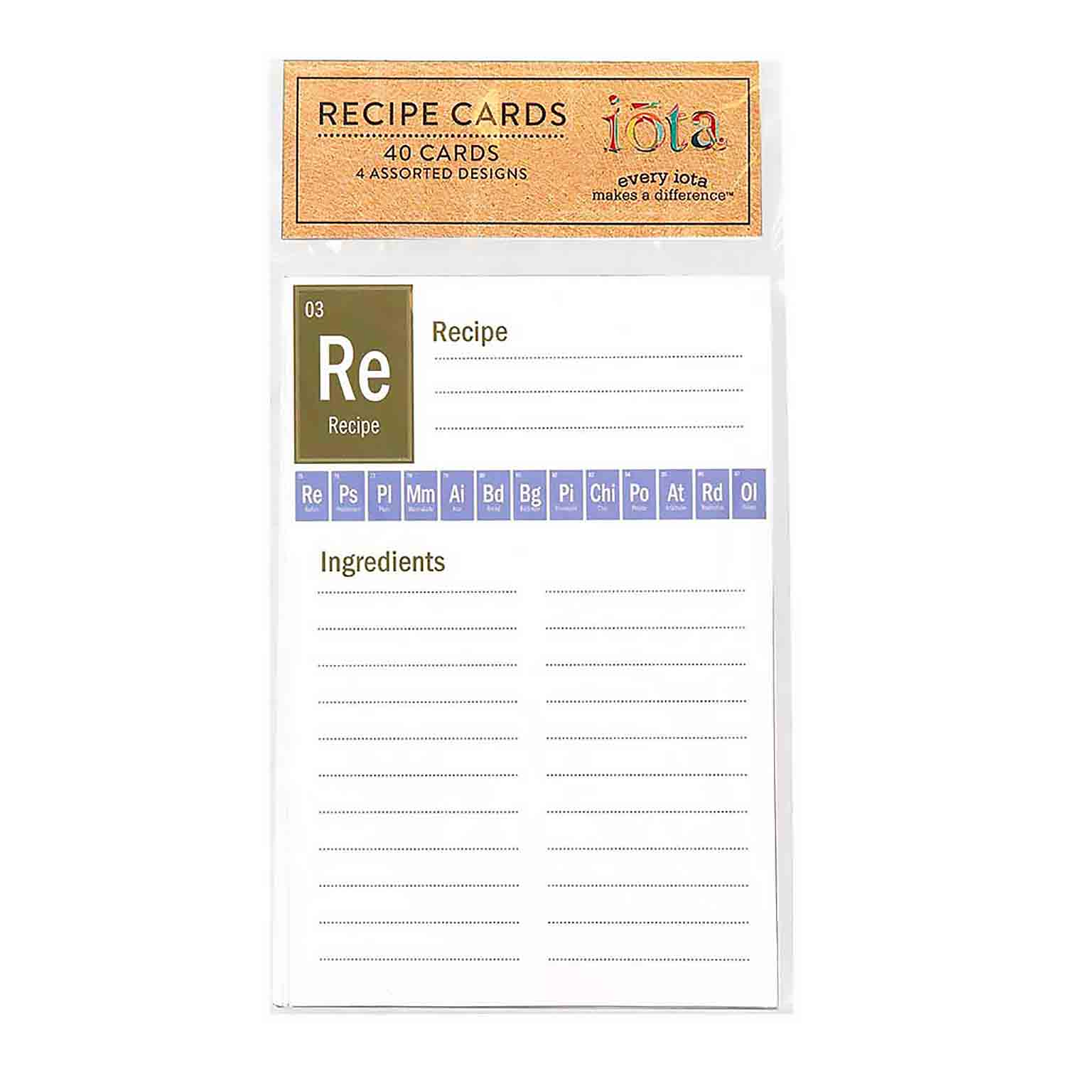 Recipe Cards - Periodic Table of Yum