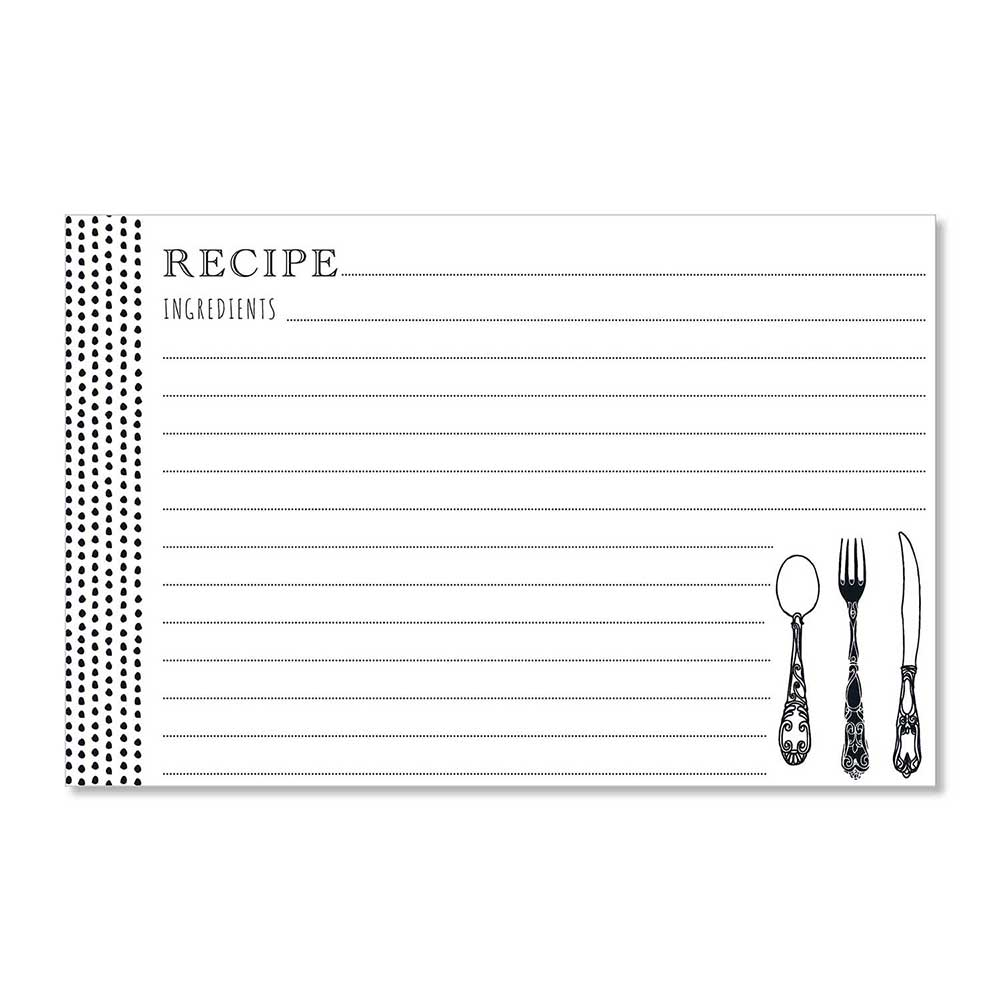 Recipe Cards - Scrumptious Dot