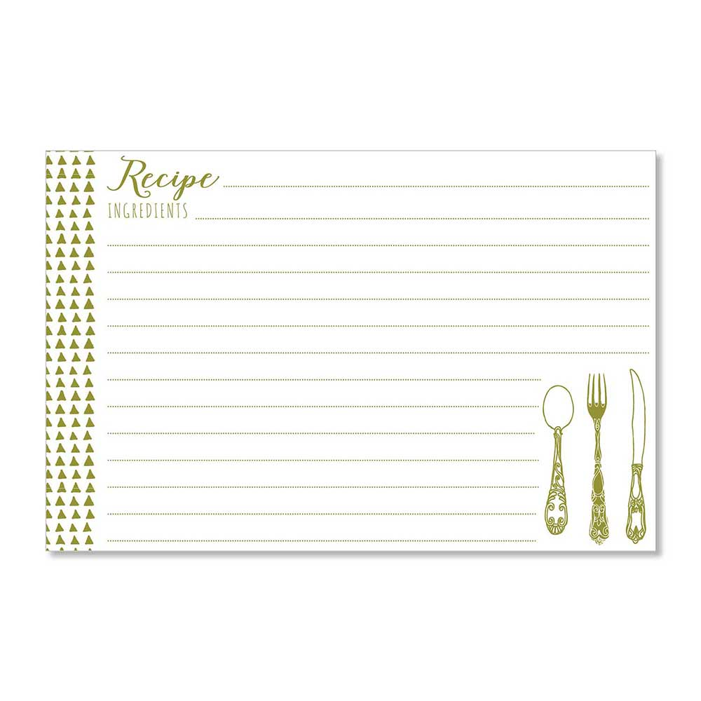 Recipe Cards - Yummy Triangles