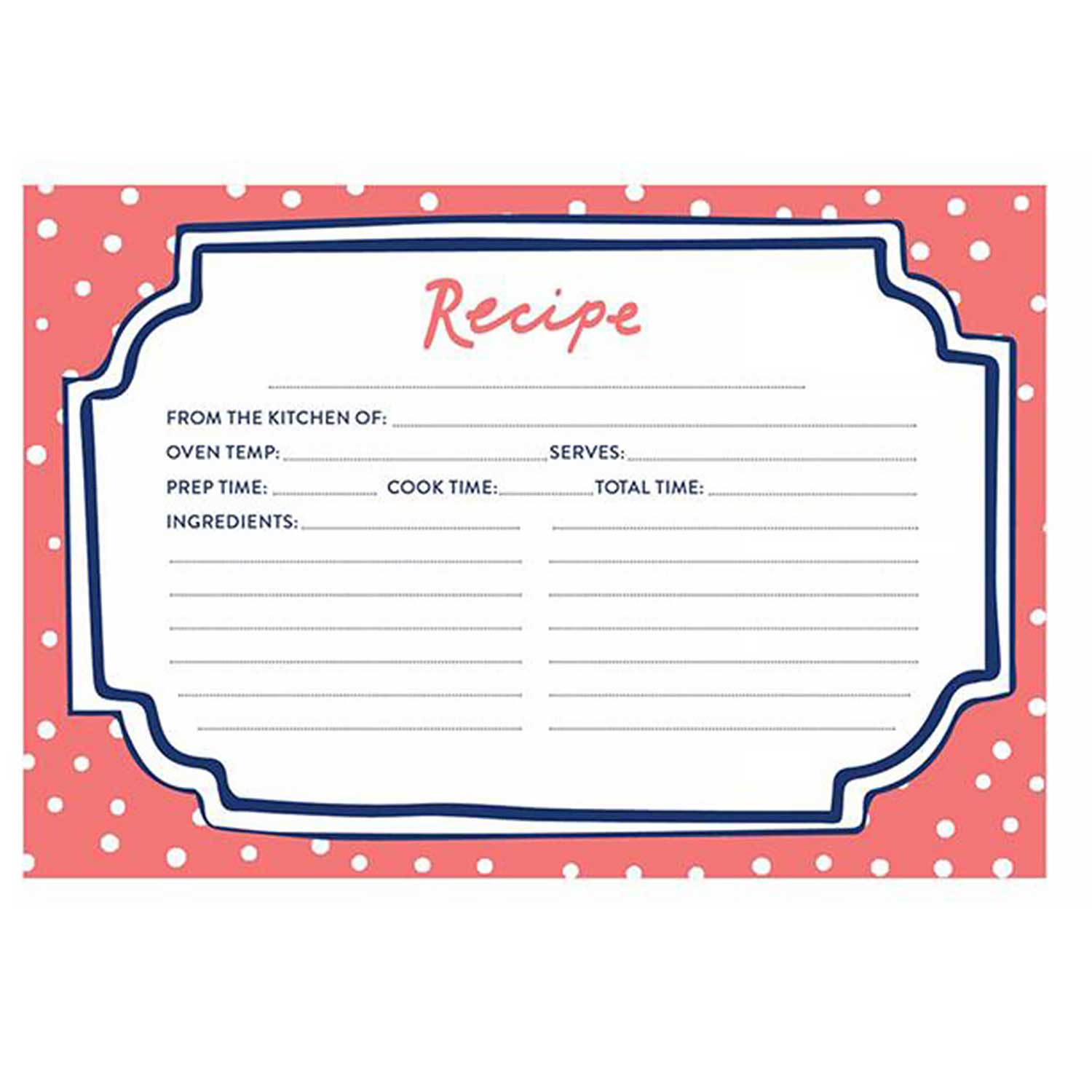 Recipe Cards - Flourish