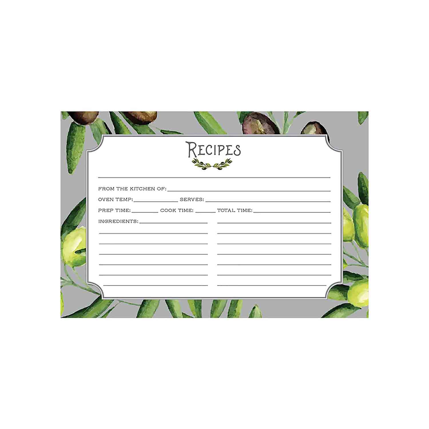 Recipe Cards - Olive Grove