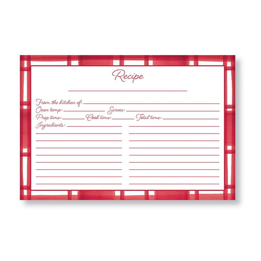 Recipe Cards - Christmas Plaid