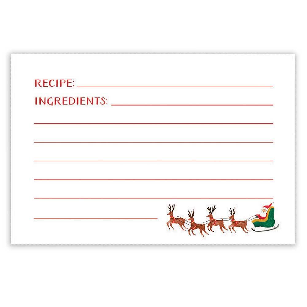 Recipe Cards - Santa