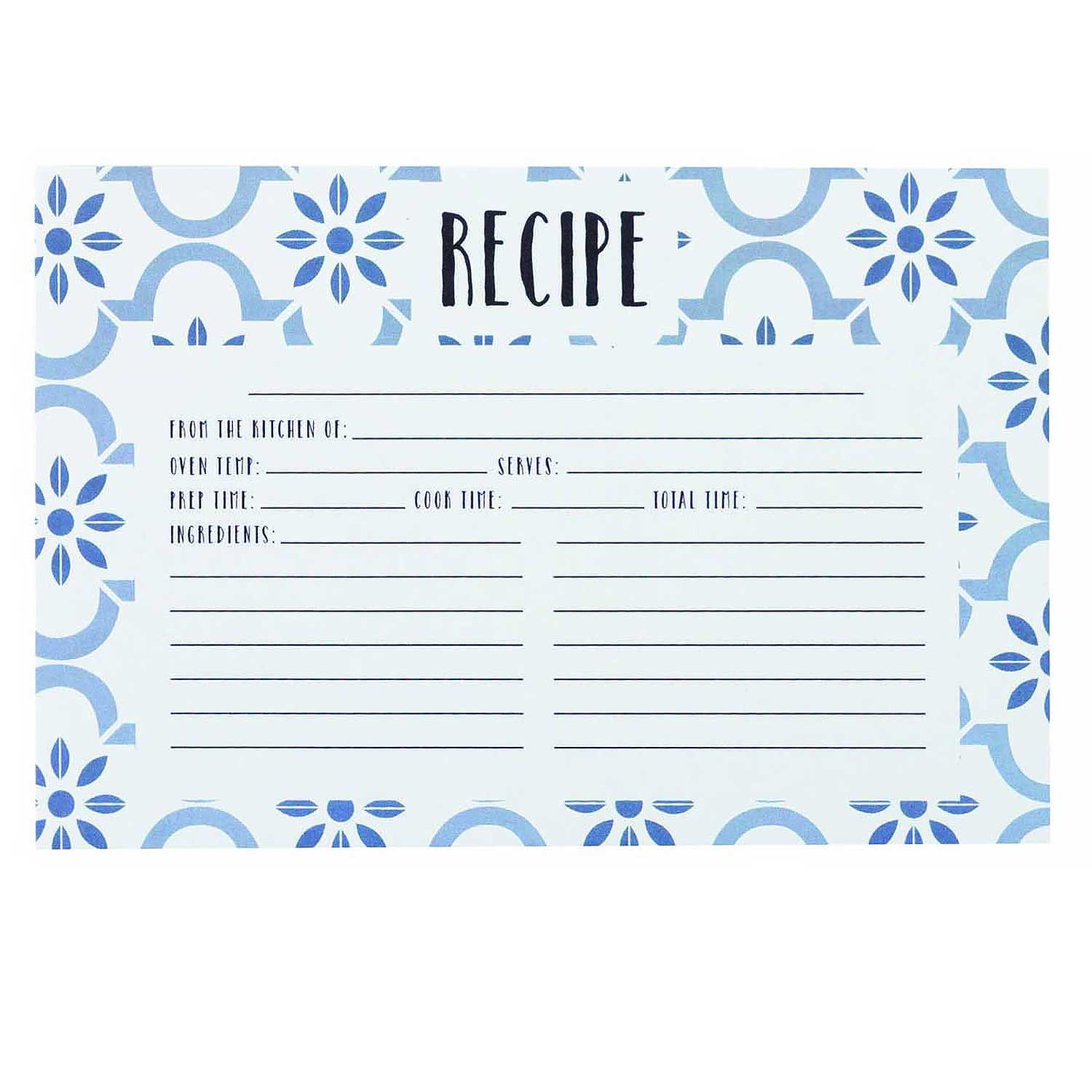 True Blue Recipe Cards