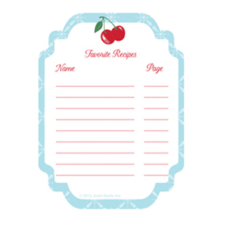 Cookbook Stickers - Kitchen Cherry