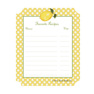 Cookbook Stickers - Summer Lemons
