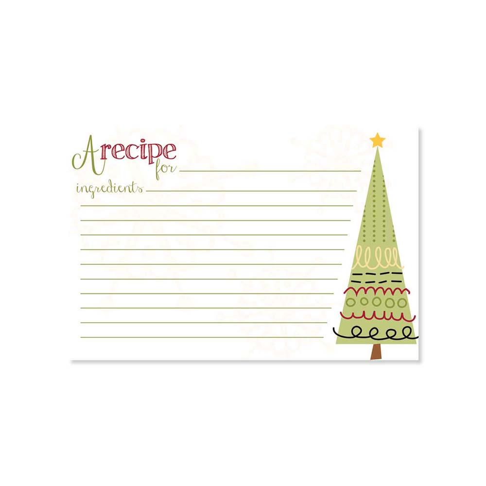 Recipe Cards - Sugar Cookie Tree