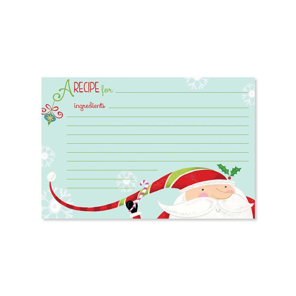 Recipe Cards - Candy Santa