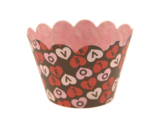 Chocolate Kisses Valentine Cupcake Wrappers