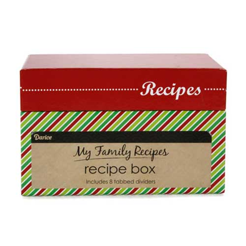 Recipe Box - Whimsical Holiday