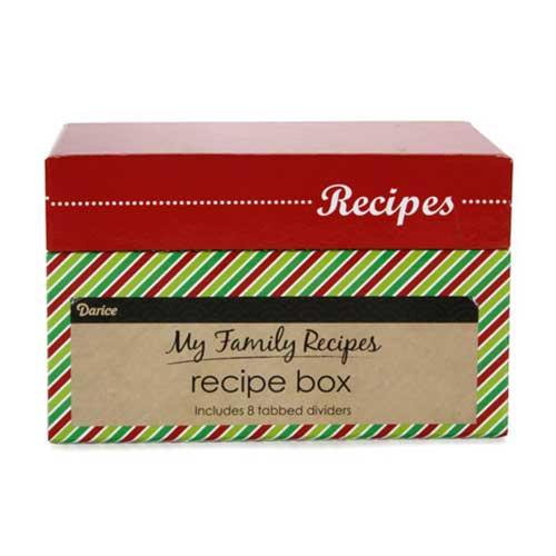Recipe Box - Whimsical Holiday