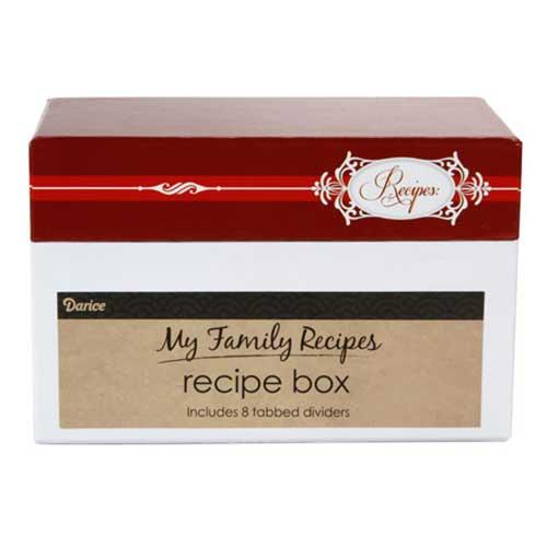 Recipe Box - Elegant Holiday