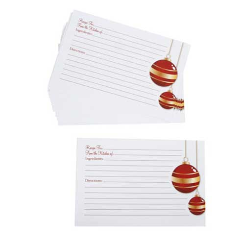 Recipe Cards - Elegant Holiday