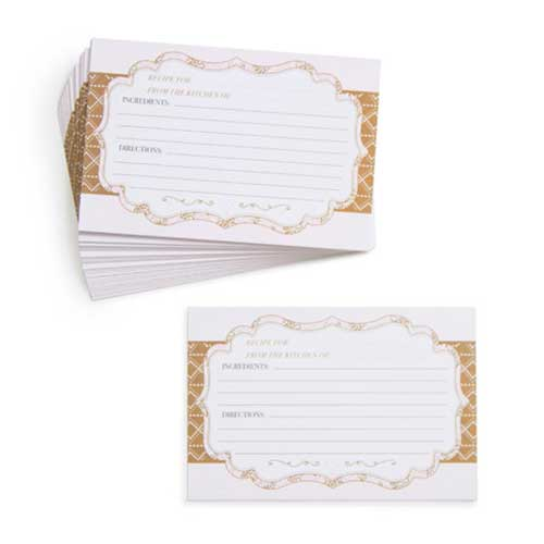 Recipe Cards - Pink Pattern