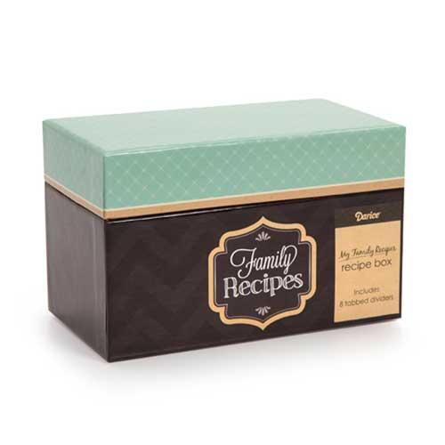 Recipe Box - Teal and Kraft
