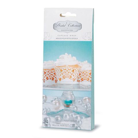 White Pearl Cupcake Wraps