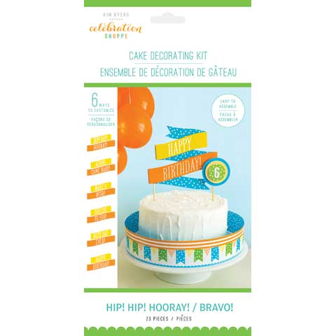 Hip Hip Hooray Cake Decorating Kit