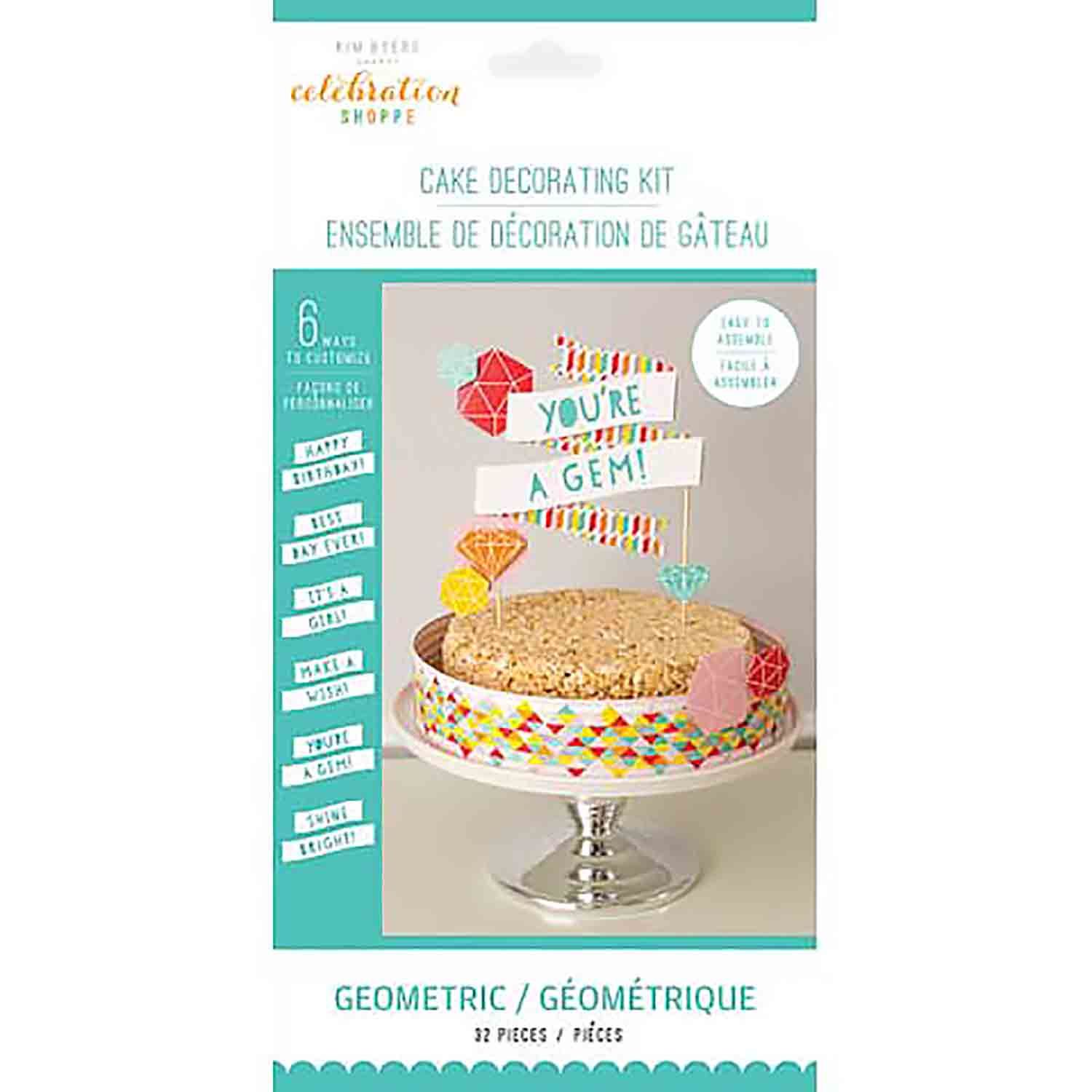 Geometric Cake Decorating Kit