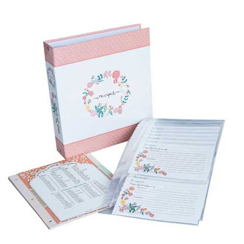 Recipe Binder - Peach Floral