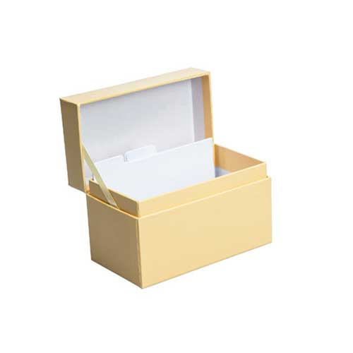 Recipe Box - Yellow