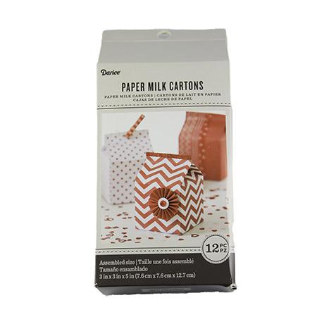 Red Milk Carton Favor Boxes