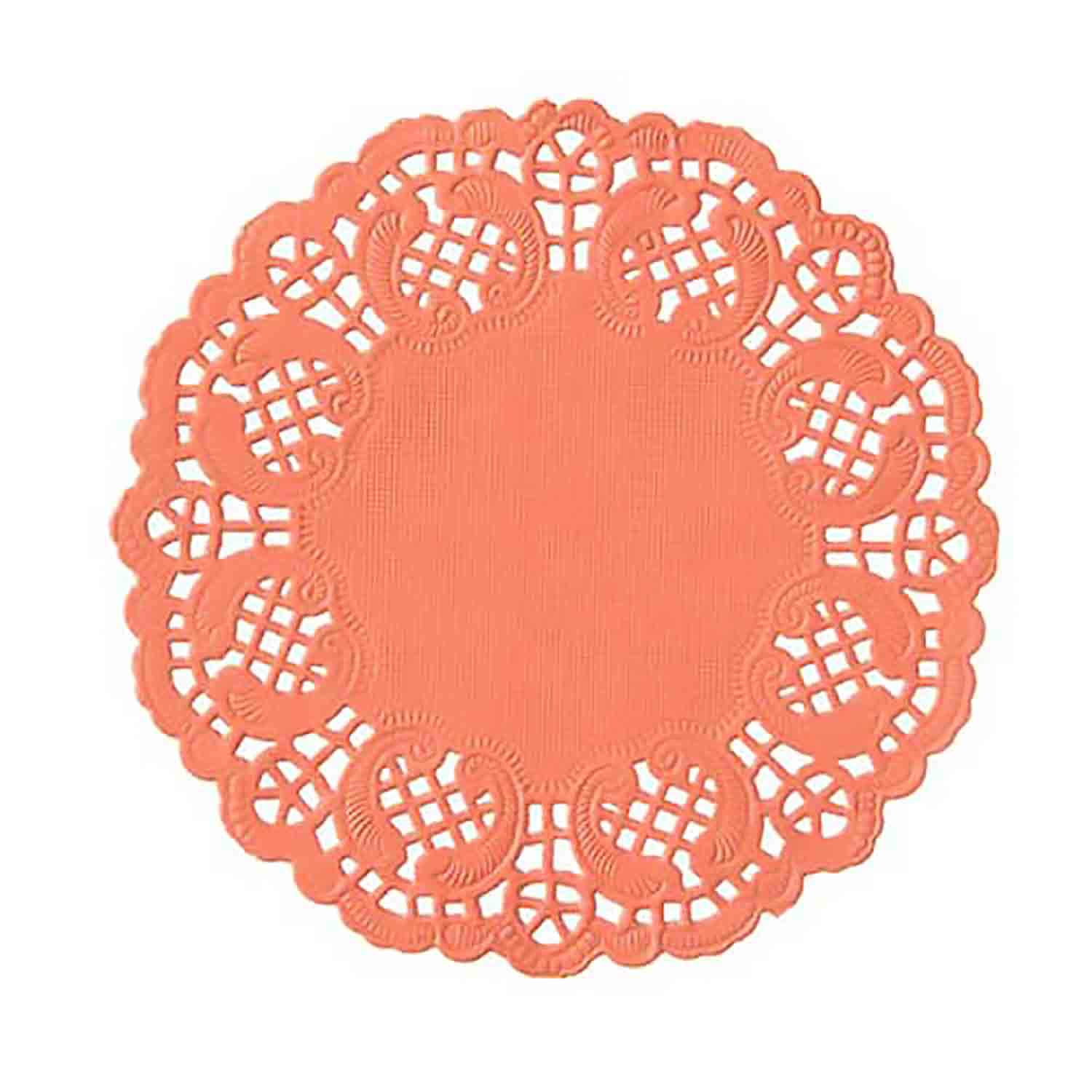 "4 1/2"" Coral Paper Doilies"