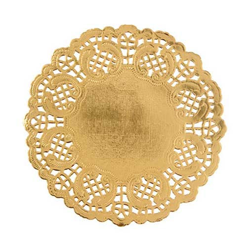 "4 1/2"" Gold Paper Doilies"