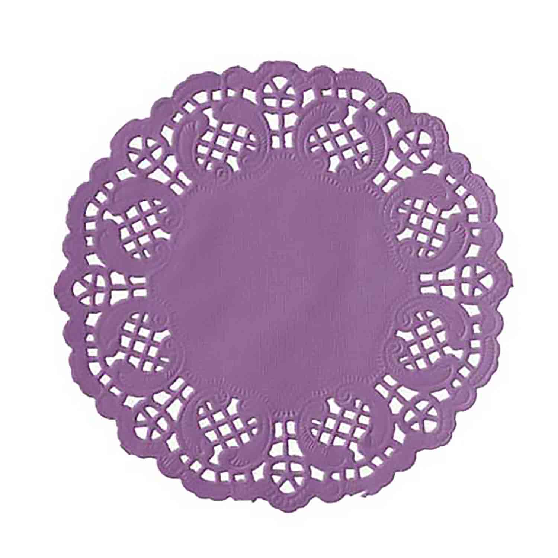 """4 1/2"""" Lavender Paper Doilies"""
