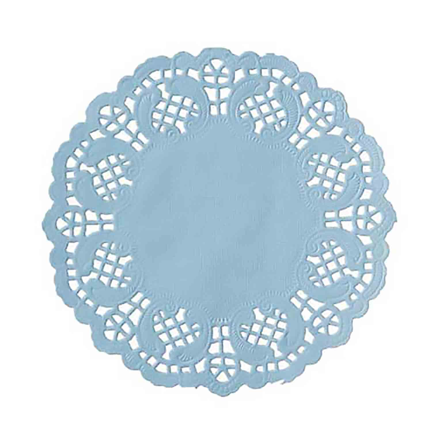 "4 1/2"" Light Blue Paper Doilies"