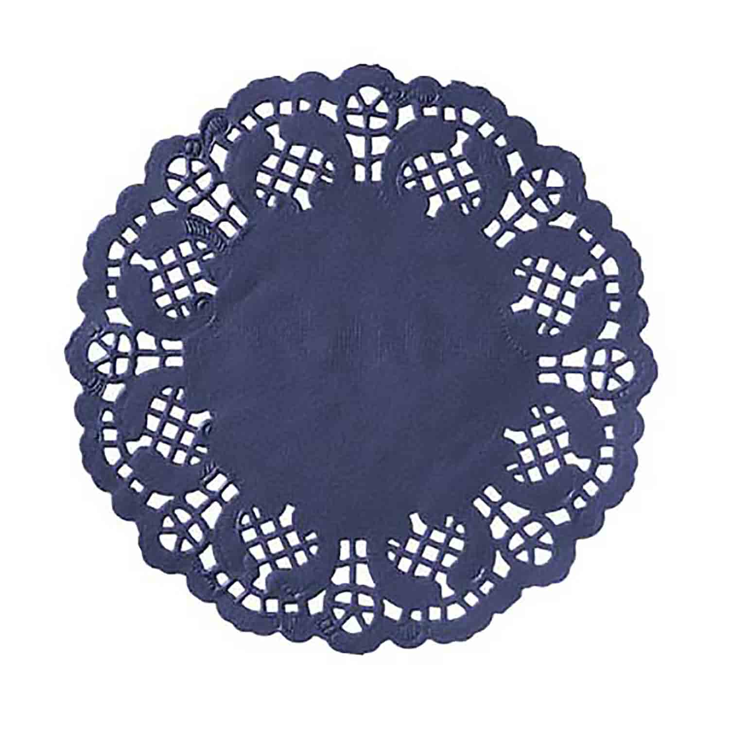 "4 1/2"" Navy Paper Doilies"