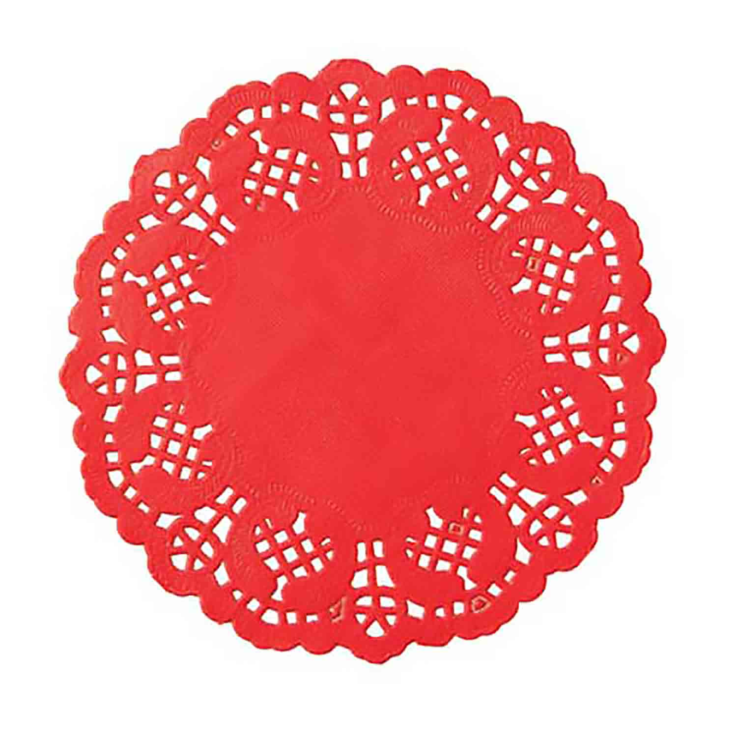 "4 1/2"" Red Paper Doilies"