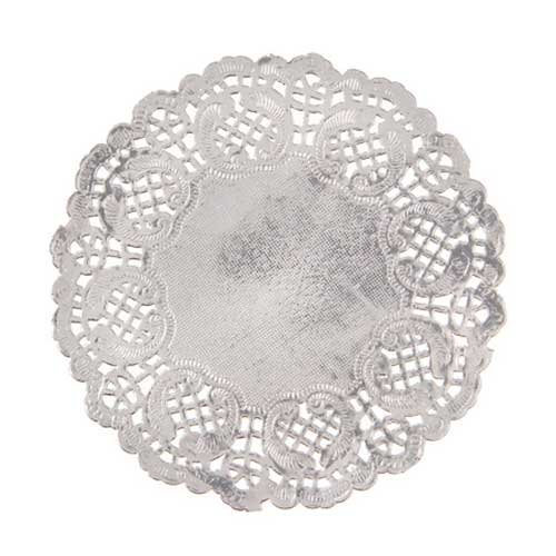 "4 1/2"" Silver Paper Doilies"