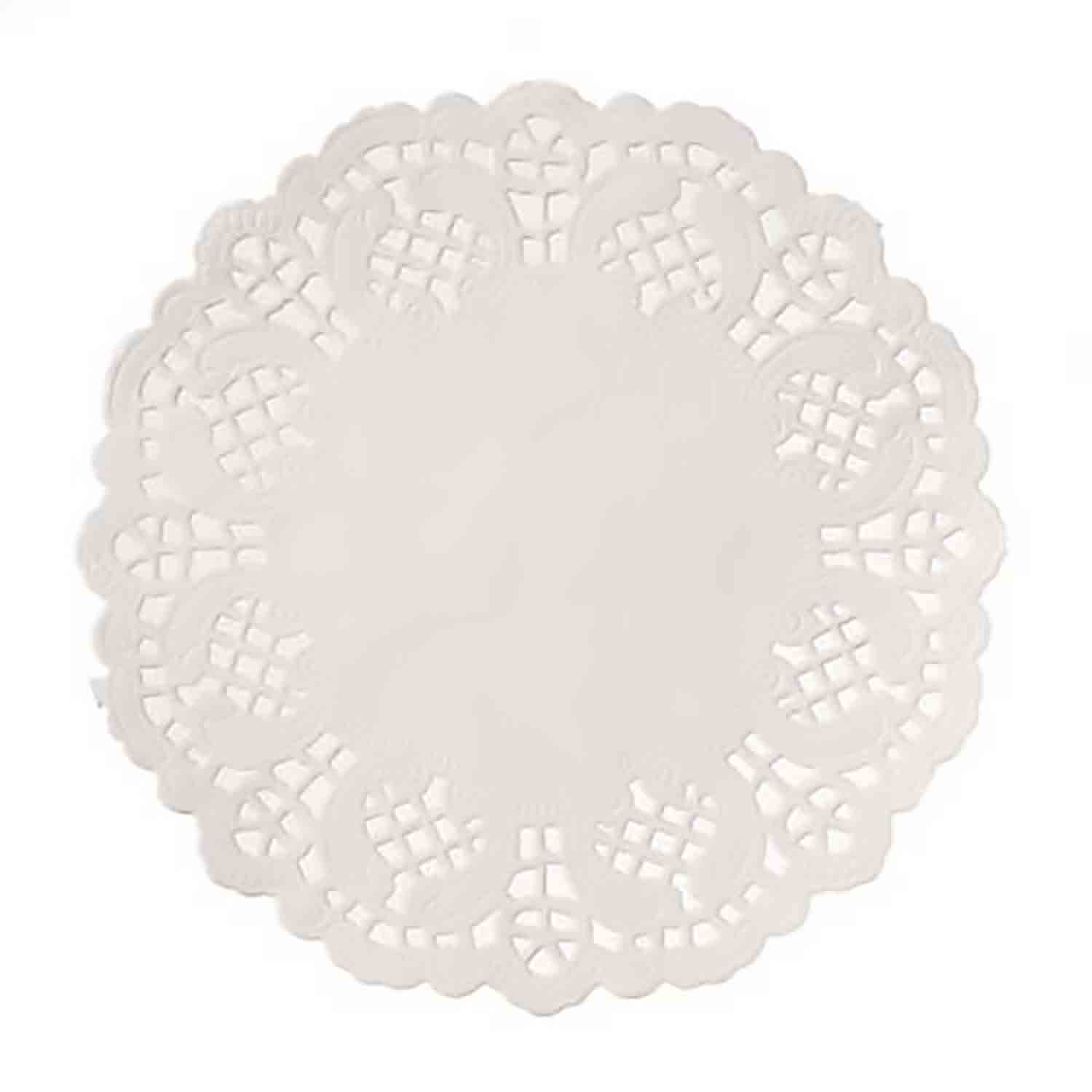 "4 1/2"" White Paper Doilies"