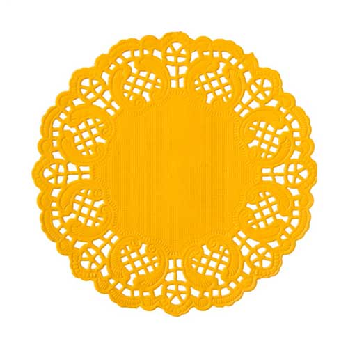 "4 1/2"" Yellow Paper Doilies"