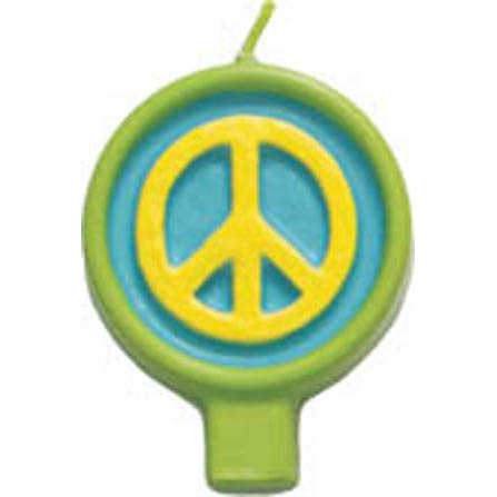 Candle - Peace Sign