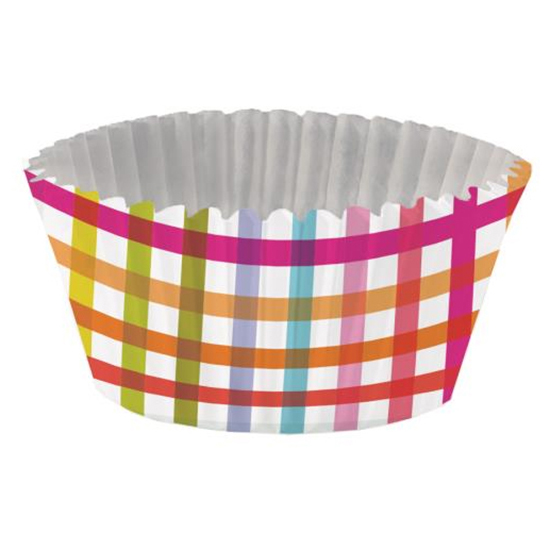 Pop Plaid Foil-Lined Standard Baking Cups