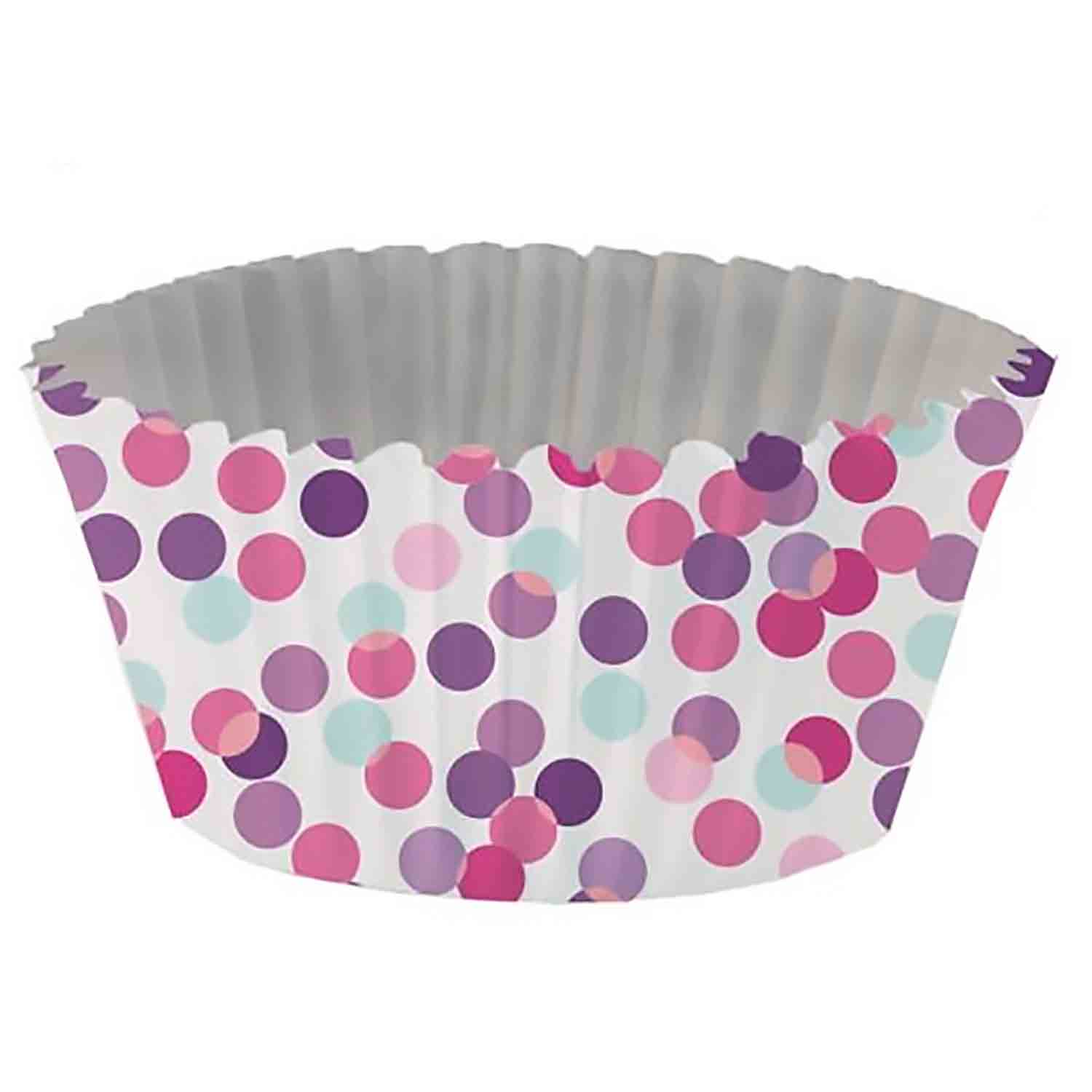 Pink Confetti Foil-Lined Standard Baking Cups